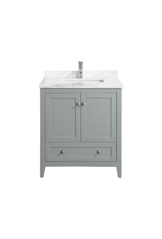 "Eviva Lime® 30"" Gray Single Sink Bathroom Vanity Set - EVVN07-30GR-MRB - Bath Vanity Plus"