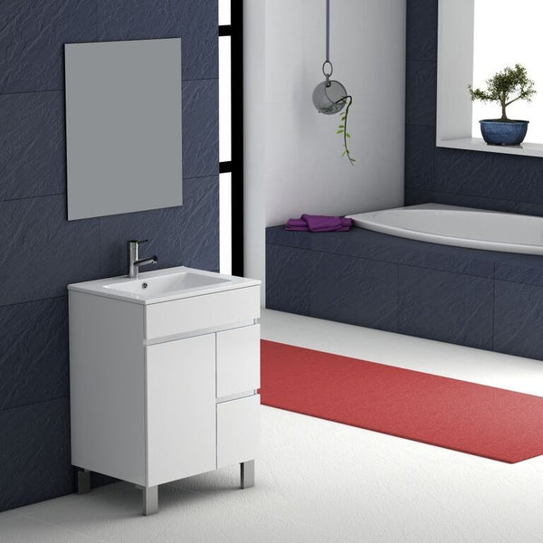 "Eviva Link® 24"" White Modern Bathroom Vanity Set - EVVN524-24WH - Bath Vanity Plus"