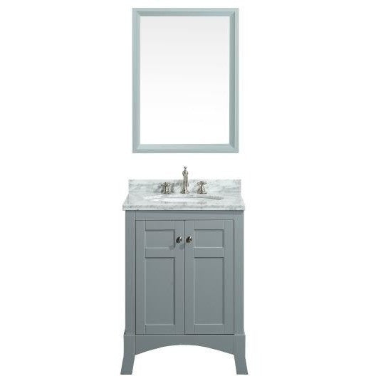 "Eviva New York 24"" Gray Single Sink Bathroom Vanity Set - EVVN514-24GR - Bath Vanity Plus"