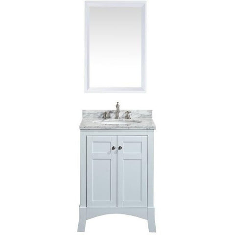 "Eviva New York 24"" White Single Sink Bathroom Vanity Set - EVVN514-24WH - Bath Vanity Plus"