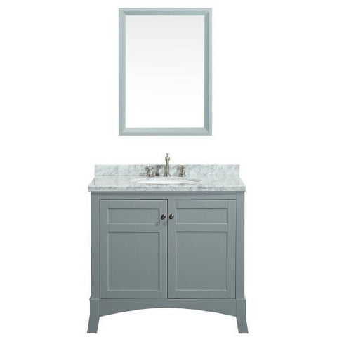 "Eviva New York 36"" Gray Single Sink Bathroom Vanity Set - EVVN514-36GR - Bath Vanity Plus"