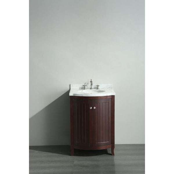 "Eviva Odessa Zinx+® 24"" Dark Teak Single Sink Bathroom Vanity Set - EVVN04-24TK - Bath Vanity Plus"
