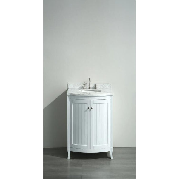 "Eviva Odessa Zinx+® 24"" White Single Sink Bathroom Vanity Set - EVVN04-24WH - Bath Vanity Plus"