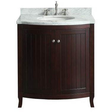 "Eviva Odessa Zinx+® 30"" Dark Teak Single Sink Bathroom Vanity Set - EVVN04-30TK - Bath Vanity Plus"