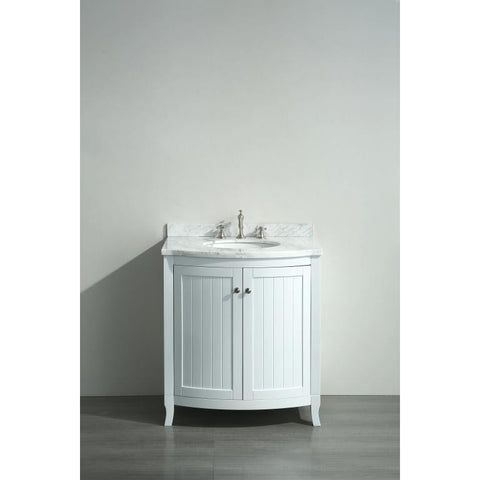 "Eviva Odessa Zinx+® 30"" White Single Sink Bathroom Vanity Set - EVVN04-30WH - Bath Vanity Plus"