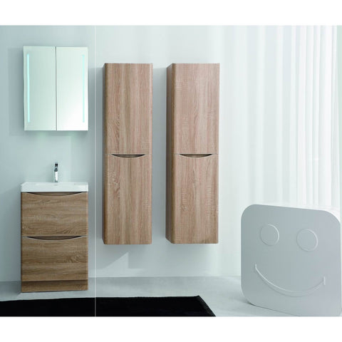 "Eviva Smile® 24"" White Oak Freestanding Modern Bathroom Vanity Set - EVVN600-24WHOK-FS - Bath Vanity Plus"
