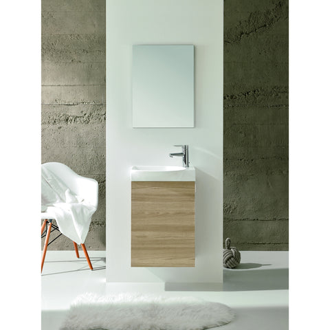 "Eviva Tiny 18"" Walnut Wall-Mount Bathroom Vanity Set - EVVN17-18WN-Action - Bath Vanity Plus"