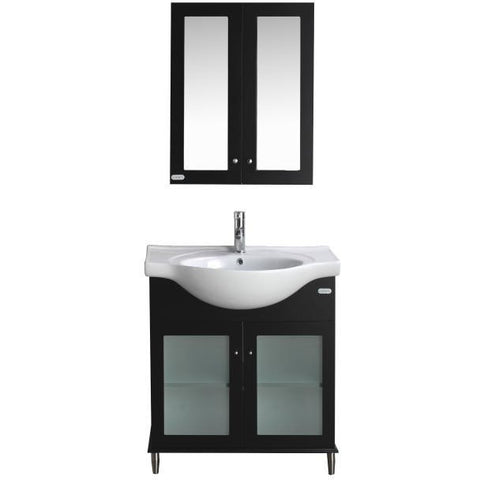 "Eviva TUX® 24"" Espresso Single Sink Bathroom Vanity Set - EVVN511-24ES - Bath Vanity Plus"
