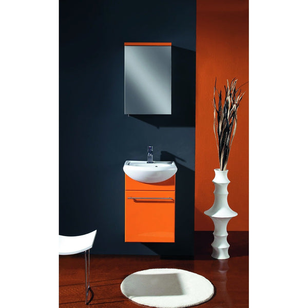 "Eviva Venti 18"" Orange Modern Wall-Mount Bathroom Vanity Set - EVVN17-18OR-Infinity - Bath Vanity Plus"