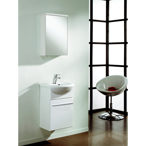 "Eviva Venti 18"" White Wall-Mount Bathroom Vanity Set - EVVN17-18WH-Infinity - Bath Vanity Plus"