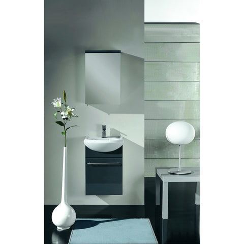 "Eviva Venti Infinity 18"" Gray Wall-Mount Bathroom Vanity Set - EVVN17-18GR-Infinity - Bath Vanity Plus"