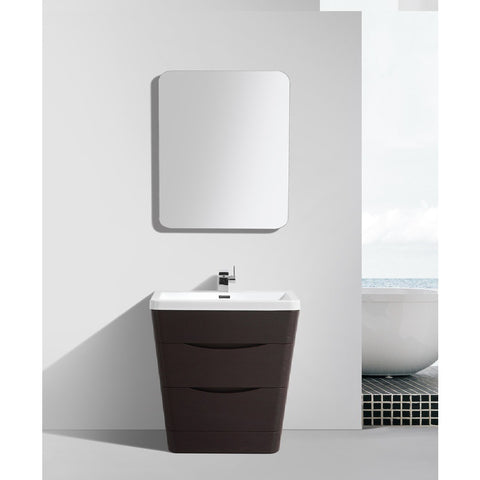 "Eviva Victoria 32"" Chestnut Modern Bathroom Vanity Set - EVVN800-32CHNT - Bath Vanity Plus"