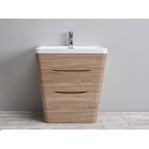 "Eviva Victoria 32"" White Oak Modern Bathroom Vanity Set - EVVN800-32WHOK - Bath Vanity Plus"