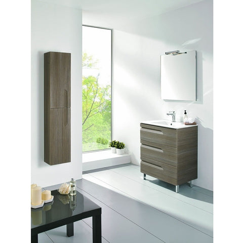 "Eviva Vitta 24"" Ash Single Sink Bathroom Vanity Set - EVVN23-24ASH-Vitale - Bath Vanity Plus"