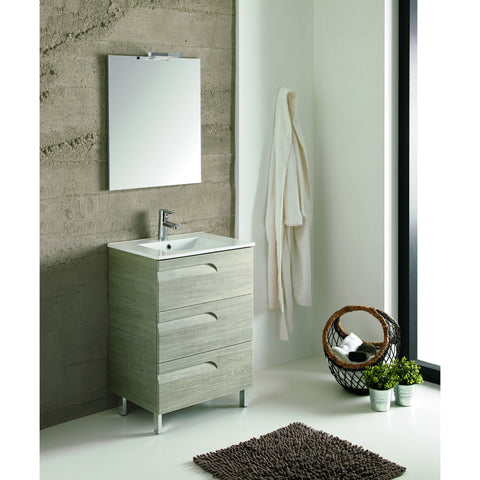 "Eviva Vitta 24"" Maple Single Sink Bathroom Vanity Set - EVVN23-24MP-Vitale - Bath Vanity Plus"