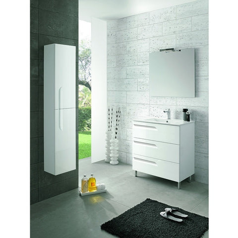 "Eviva Vitta 24"" White Single Sink Bathroom Vanity Set - EVVN23-24WH-Vitale - Bath Vanity Plus"