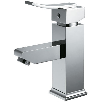EVIVA Bevera® Brushed Nickel Single Hole/Handle Bathroom Sink Faucet - EVFT97BN - Bath Vanity Plus