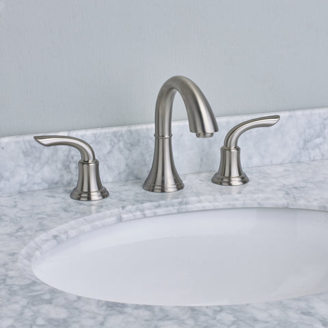 EVIVA Friendy® Brushed Nickel Widespread (2 Handles) Bathroom Faucet - EVFT32BN - Bath Vanity Plus