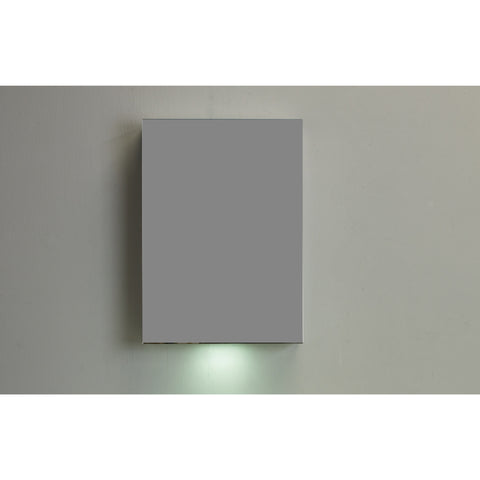 "Eviva Lazy 20"" Mirror Wall-Mount Medicine Cabinet (with lights) - EVMR600-20AL - Bath Vanity Plus"