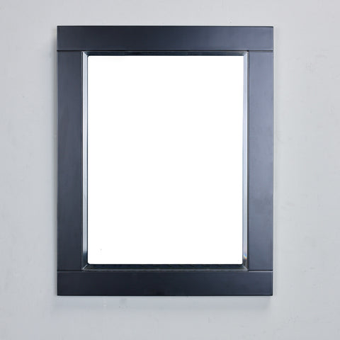 "Eviva Aberdeen® 24"" Espresso Framed Bathroom Wall Mirror - EVMR412-24X30-ES - Bath Vanity Plus"