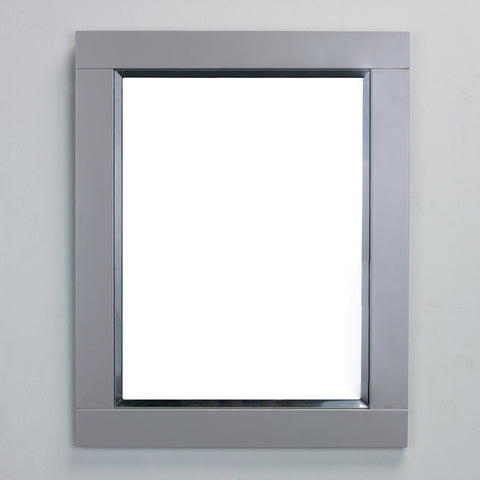 "Eviva Aberdeen® 24"" Gray Framed Bathroom Wall Mirror - EVMR412-24X30-GR - Bath Vanity Plus"