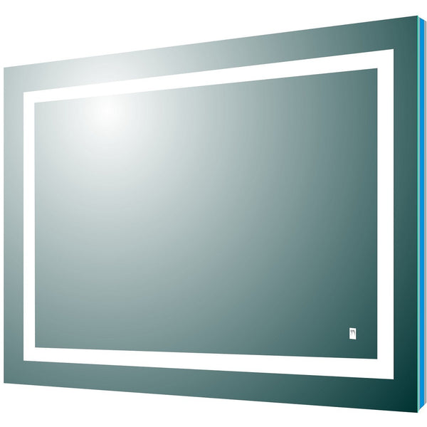 "Eviva Deco Piece 26"" Backlit LED Mirror with Frame Lights - EVMR52-36X30-LED - Bath Vanity Plus"