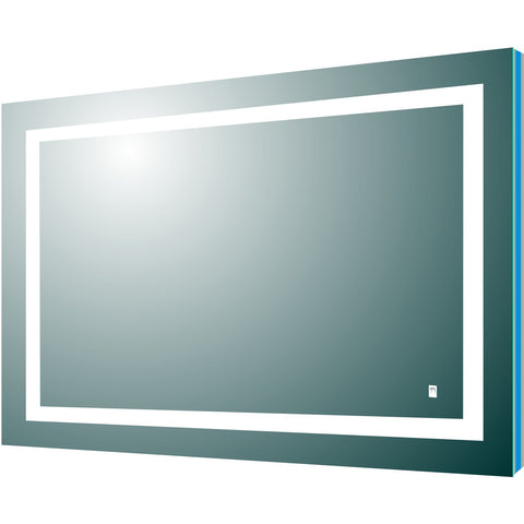 "Eviva Deco Piece 42"" Backlit LED Mirror with Frame Lights - EVMR52-42X30-LED - Bath Vanity Plus"