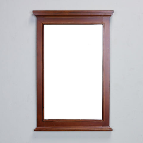 "Eviva Elite Stamford 24"" Teak Framed Bathroom Vanity Mirror - EVMR709-24TK - Bath Vanity Plus"