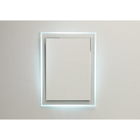 "Eviva Evolution 24"" Modern Bathroom LED Backlit Mirror with Base Lights - EVMR55-24X31-LED - Bath Vanity Plus"