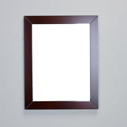 "Eviva New York 24"" Teak Framed Bathroom Vanity Mirror - EVMR514-24X30-TK - Bath Vanity Plus"