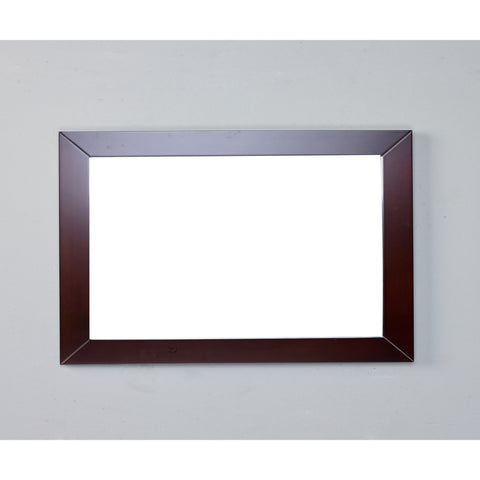 "Eviva New York 48"" Teak Framed Bathroom Vanity Mirror - EVMR514-48X30-TK - Bath Vanity Plus"