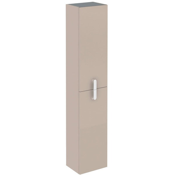 "Eviva Cali 12"" Brown Wall-Mount Modern Bathroom Linen Cabinet - EVCB32-12TP-Round - Bath Vanity Plus"