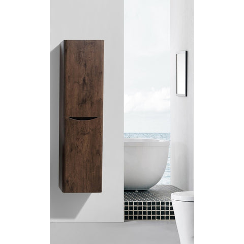 "Eviva Smile 16"" Rosewood Wall-Mount Linen Cabinet - EVCB15-16RWD - Bath Vanity Plus"