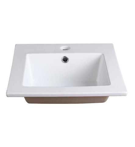 "Fresca Allier 16"" White Integrated Sink / Countertop"