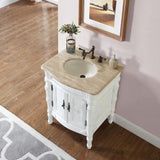 "Silkroad Exclusive 26"" Gloucester Single Sink Vanity Set - HYP-0134-T-UIC-26 - Bath Vanity Plus"