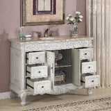 "Silkroad Exclusive 48"" Ella Single Sink Vanity Set - HYP-0152-UWC-48 - Bath Vanity Plus"