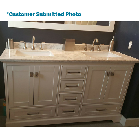 60 double sink bathroom vanity.  Stufurhome 60 Newport White Double Sink Bathroom Vanity With Mirror HD 7130W
