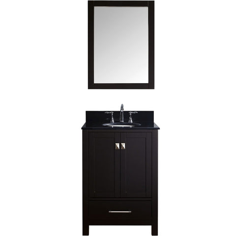 "Virtu USA Caroline Avenue 24"" Espresso Single Bathroom Vanity Set with Granite Top - GS-50024-BG - Bath Vanity Plus"