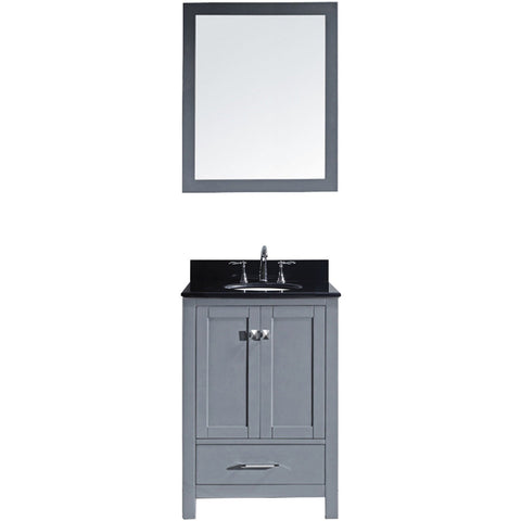 "Virtu USA Caroline Avenue 24"" Gray Single Bathroom Vanity Set with Granite Top - GS-50024-BG - Bath Vanity Plus"