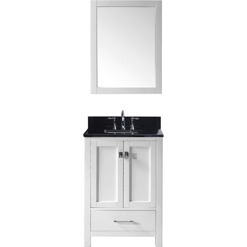 "Virtu USA Caroline Avenue 24"" White Single Bathroom Vanity Set with Granite Top - GS-50024-BG - Bath Vanity Plus"