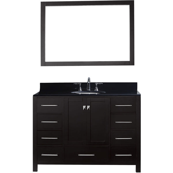 "Virtu USA Caroline Avenue 48"" Espresso Single Bathroom Vanity Set with Granite Top - GS-50048-BG - Bath Vanity Plus"