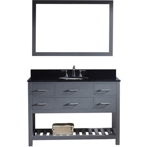 "Virtu USA Caroline Estate 48"" Gray Single Bathroom Vanity Set with Granite Top - MS-2248-BG-GR - Bath Vanity Plus"