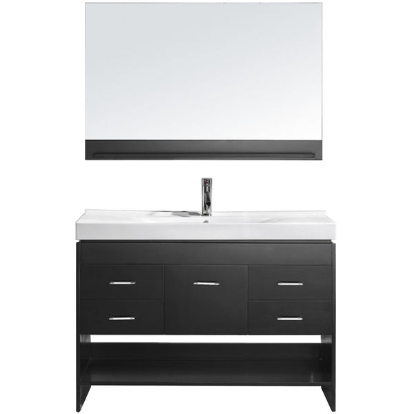 "Virtu USA Gloria 48"" Espresso Single Bathroom Vanity Set - MS-575-C-ES - Bath Vanity Plus"