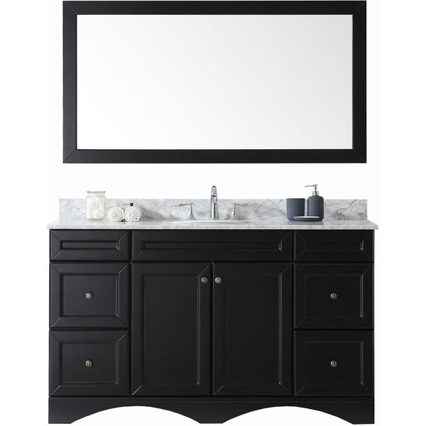 "Virtu USA Talisa 60"" Espresso Single Bathroom Vanity Set - ES-25060-WM-ES - Bath Vanity Plus"