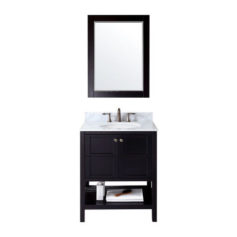 "Virtu USA Winterfell 30"" Espresso Single Bathroom Vanity Set - ES-30030-WM-ES - Bath Vanity Plus"