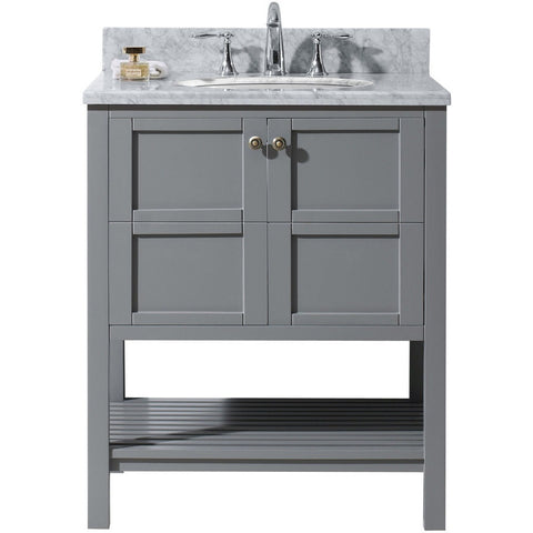 "Virtu USA Winterfell 30"" Gray Single Bathroom Vanity Set - ES-30030-WM-GR - Bath Vanity Plus"