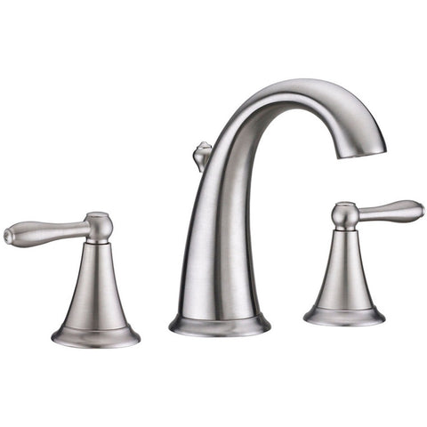 Virtu USA Alexis Brushed Nickel Widespread Faucet - PS-265-BN - Bath Vanity Plus