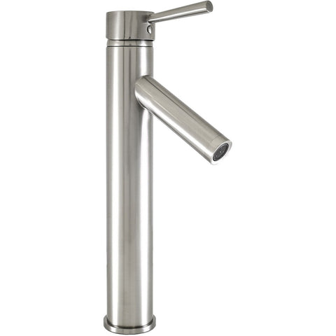 Virtu USA Esto Brushed Nickel Single Hole Faucet For Vessel Sinks - PS-104-BN - Bath Vanity Plus