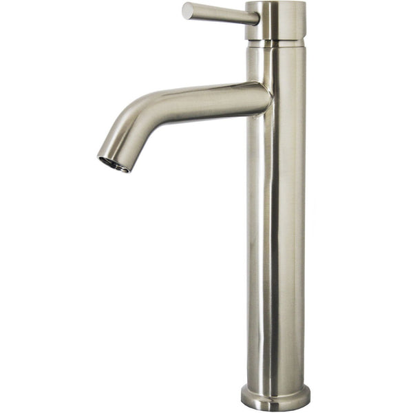 Virtu USA Hydron Brushed Nickel Single Hole Faucet For Vessel Sinks - PS-402-BN - Bath Vanity Plus