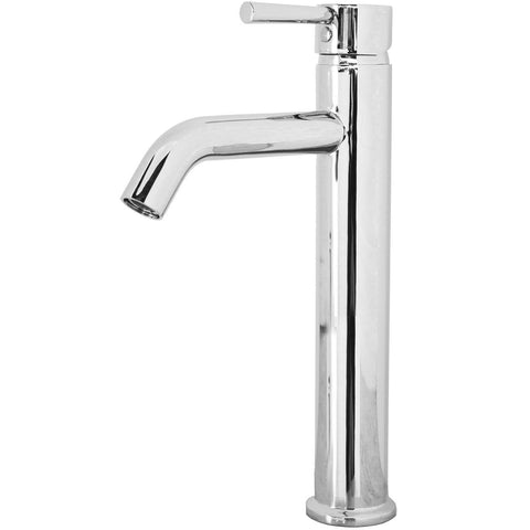 Virtu USA Hydron Polished Chrome Single Hole Faucet for Vessel Sinks - PS-402-PC - Bath Vanity Plus